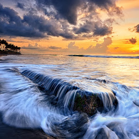 The Legend of Manyar by Hendri Suhandi - Landscapes Beaches ( bali, manyar, mood, sunrise, flow, beach, motion )