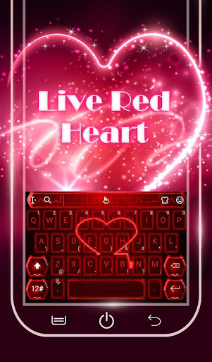 Live Neon Red Heart Keyboard Theme 6.2.22.2019 app download 2