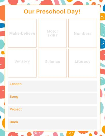 Using a regular schedule, you can easily manage it effectively and productively. Free Preschool Lessons Template Customize With Picmonkey