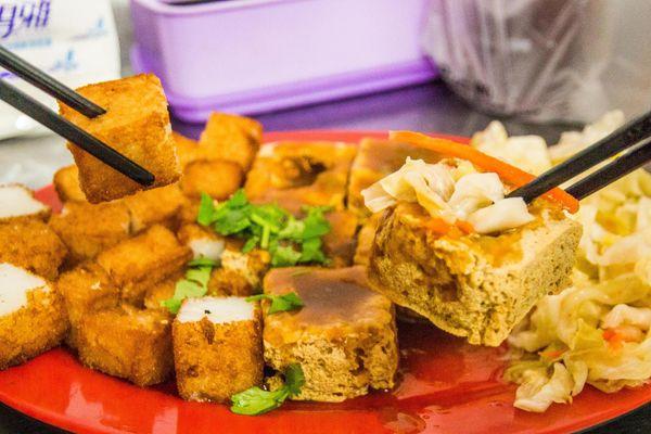久昂臭豆腐 雙拼優秀!台東必嚐小吃!