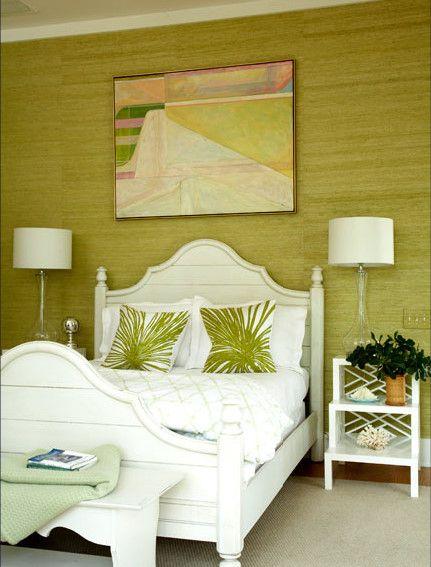 Grass Wallpaper for Tropical Bedroom Ideas
