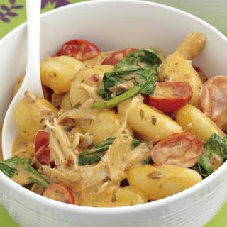 Creamy Chicken and Tomato Gnocchi.