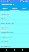 Screenshot of Aprende los Phrasal Verbs