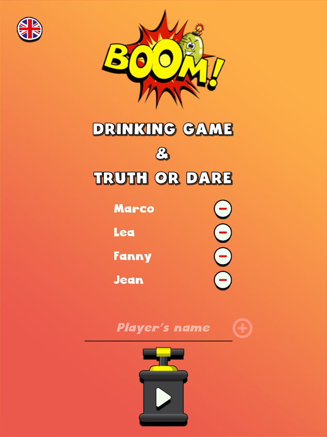 BOOM 💥 Naughty drinking games and Truth or Dare- screenshot