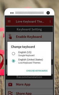 Love Keyboard Theme - náhled