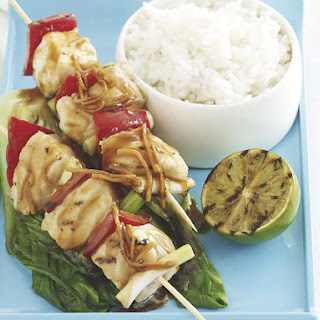 Soy Marinated Fish Skewers