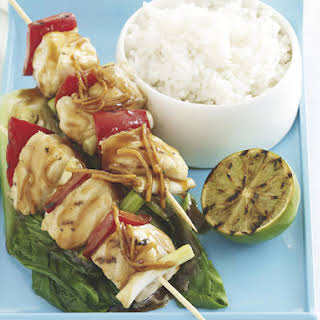 Soy Marinated Fish Skewers.