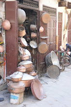Photo: Bronze handicrafts, Fes souk