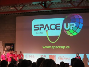 Photo: The RedShirts welcome the SpaceUp crowd from all over the world