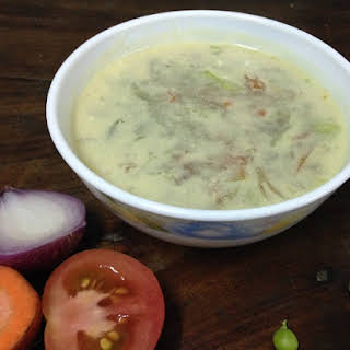 Creamy Mixed Vegetable Soup.