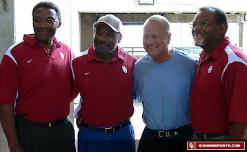 Photo: The Selmon brothers with Coach Switzer at the 2008 football intro video shoot.