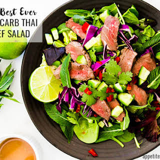 The Best Ever Low-Carb Thai Beef Salad.