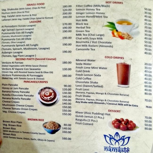 Jai Neelkanth Restaurant menu 2