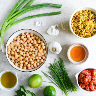 Summer Chickpea Salad with Honey Garlic Lime Vinaigrette Recipe