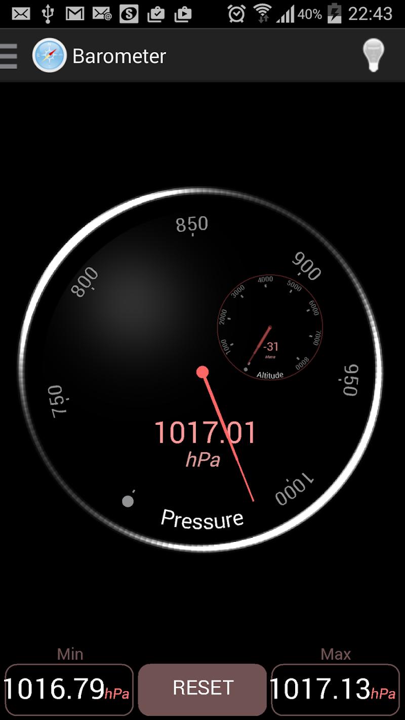 Скриншот Compass GPS Sensors