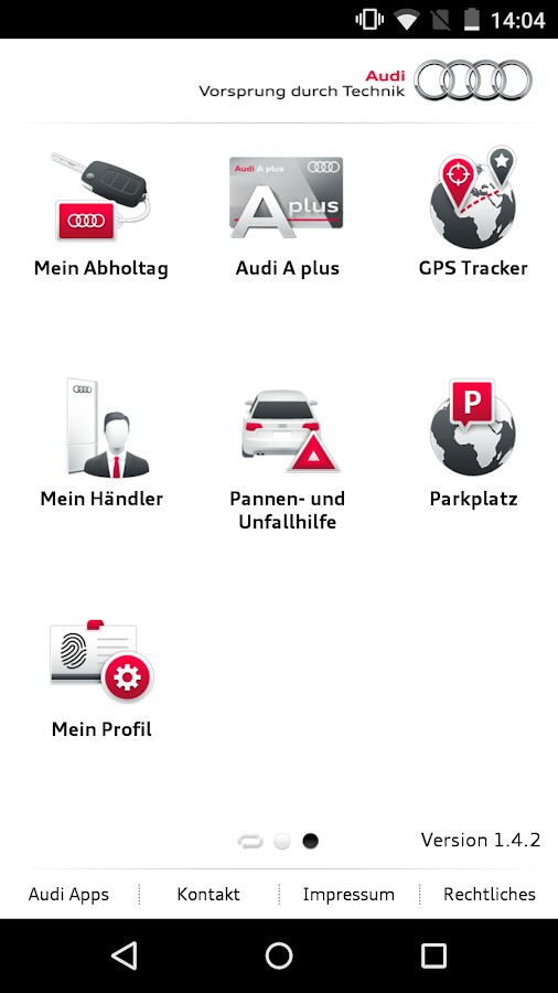 myAudi mobile assistant- screenshot