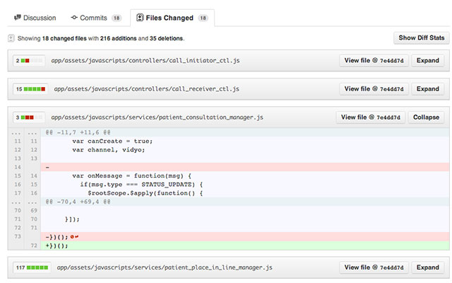 Github Collapse Diff