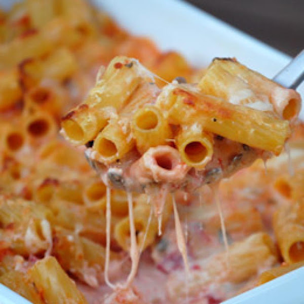 Pasta With 5 Cheeses Recipe