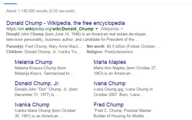 Trump to Chump