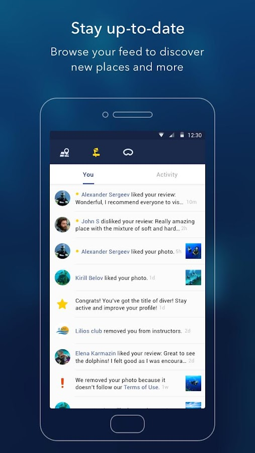 Deep Dive Scanner - Scuba Diving App- screenshot
