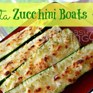 Feta Zucchini Boats.