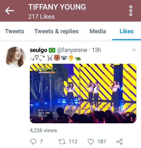 Tiffany liked tweet