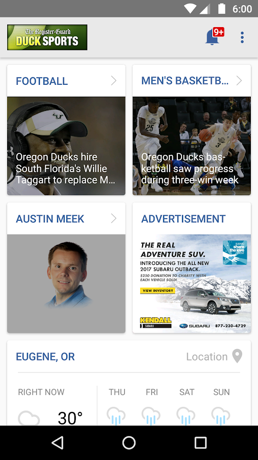 Oregon Duck Sports- screenshot