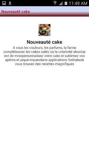 Nouveauté cake