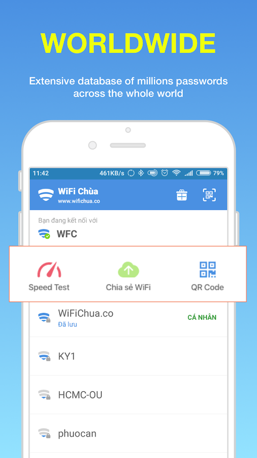 WiFi Chùa - Free WiFi passwords- screenshot