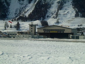 Photo: The building of the Samedan airport at 5600 ft MSL http://www.swiss-flight.net