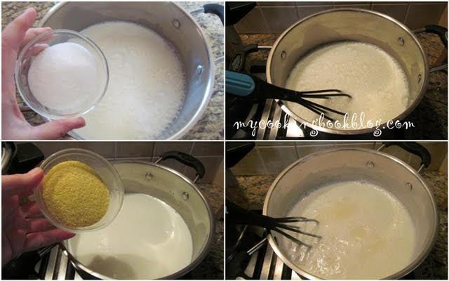 Крем от прясно мляко с грис