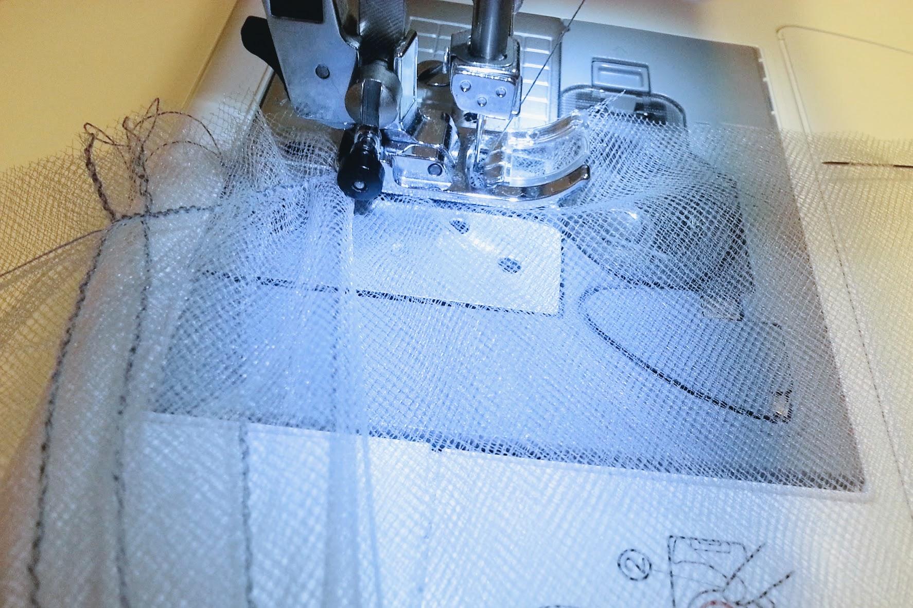 Adding tulle layers: High-Low Circle Skirt Dress - DIY Fashion Garments | fafafoom.com