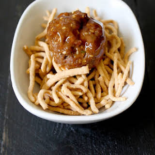 30 Minutes, Sesame Sweet and Sour Meatballs.