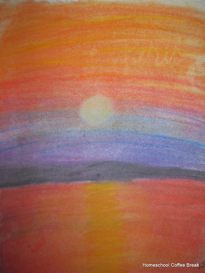 Sunsets on the Virtual Fridge art link-up hosted by Homeschool Coffee Break @ kympossibleblog.blogspot.com