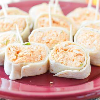 Buffalo Chicken Tortilla Roll-Ups.