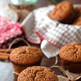 Healthy Triple Ginger Gingerbread Muffins.