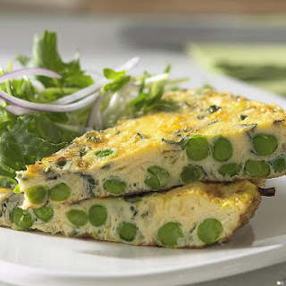 Pea, Leek and Mint Frittata