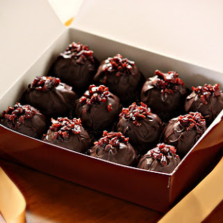 Red Wine Truffles with Dried Cherries