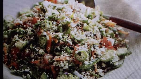 Raw Cauliflower Tabouli Salad With Okra By Eddie