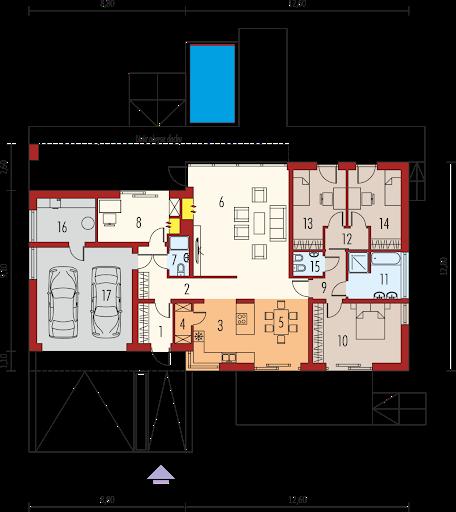 EX 11 G2 wersja D MULTI-COMFORT - Rzut parteru