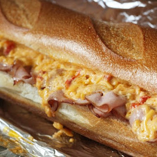 Hot Ham and Pimiento Cheese Sandwich