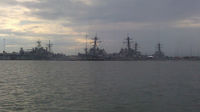 Photo: Warships in Hampton Roads.
