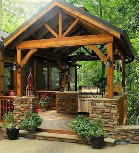 屋外のキッチンデザインのアイデア