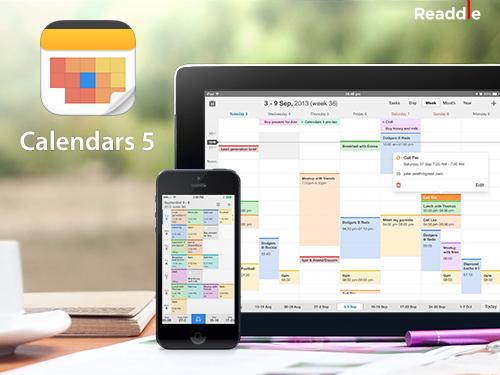 - Tải ứng dụng Calendars 5 có giá 6.99$ MIỄN PHÍ từ Apple