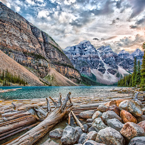 Lake Moraine by Sean Malley - Landscapes Mountains & Hills