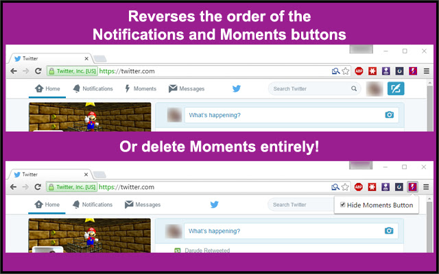 Swap Moments and Notifications on Twitter