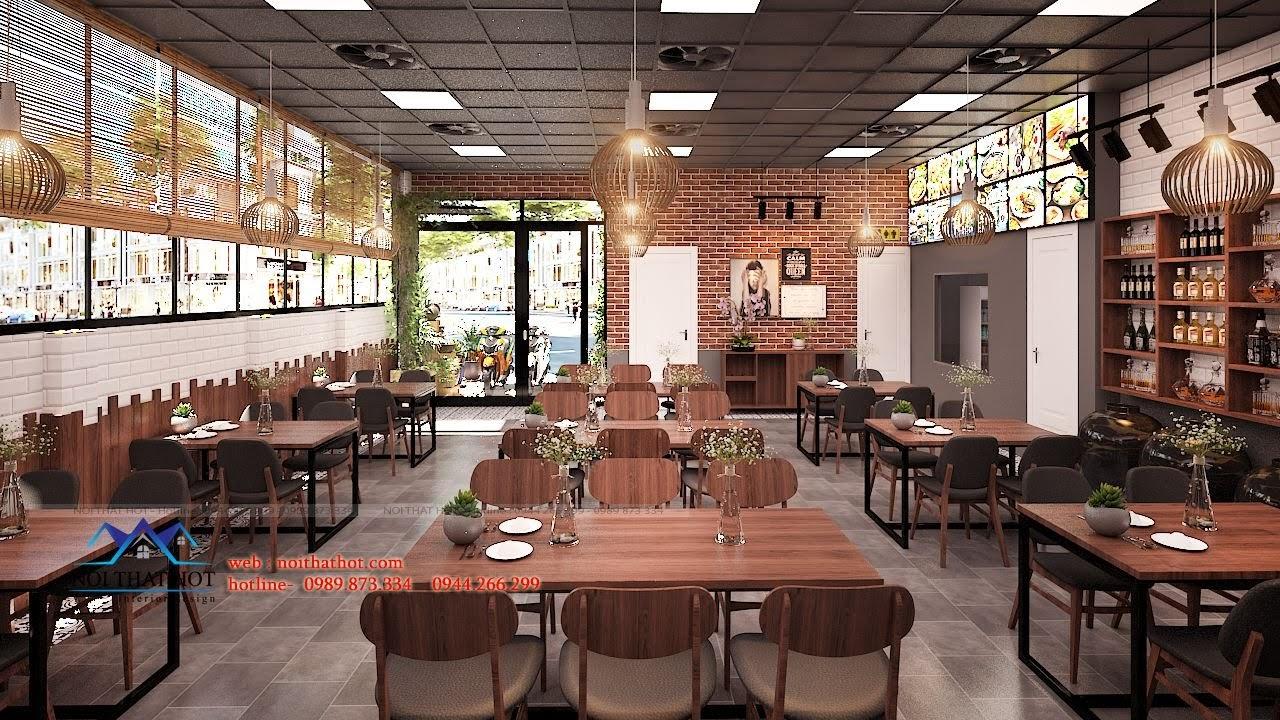 thiết kế nhà hàng trẻ trung