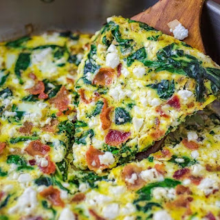 Spinach Feta Egg Bake Recipes.