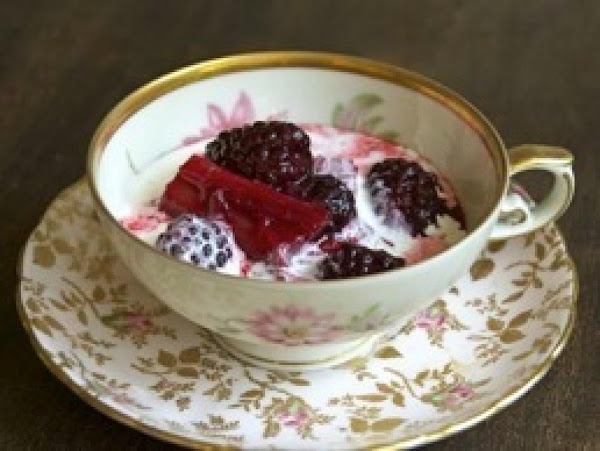 Summer Rhubarb And Blackberry Compote Recipe