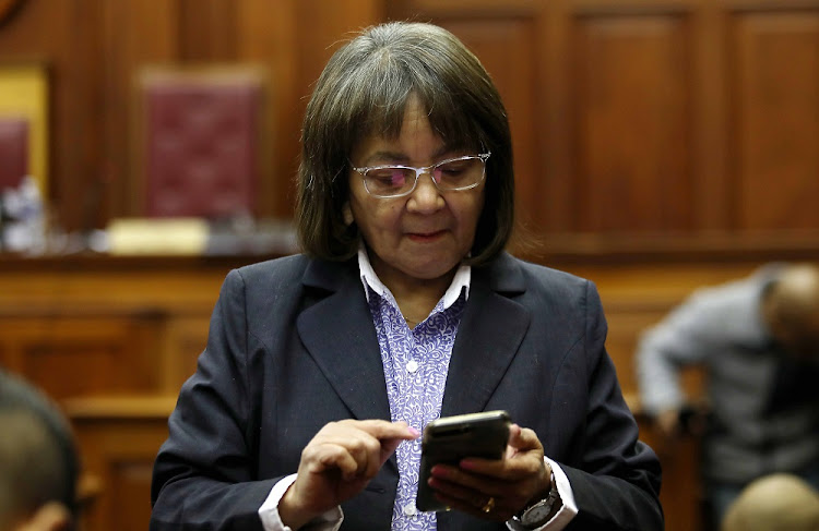 Patricia de Lille in the High Court in Cape Town.